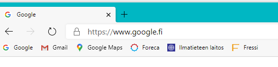 Kuva selaimen osoitekentästä